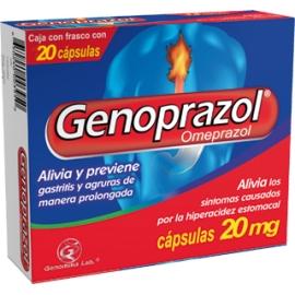 GENOPRAZOL 20MG CAPSULAS (Inhibidores de la bomba de protones (A2B2)) CAJA*28 UNIDADES