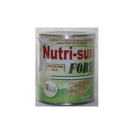 NUTRI-SURE CON FOS VAINILLA CONTIENE OMEGA 369 (ALIMENTO A BASE MALTODEXTRINA) FCO*400GR
