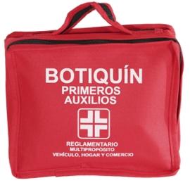 BOTIQUÍN PRIMEROS AUXILIOS (REGLAMENTARIO VEHÍCULO,COMERCIO Y HOGAR) CANTIDAD*1 UNIDAD