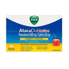VICK ATACADOL ACTIVO (ENVIOS A COLOMBIA) CAJA*10 TABLETAS