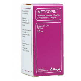 Metcopin (10+10)Mg/mL(1+1)% FCO*10mL (Compra atraves de whatsapp)