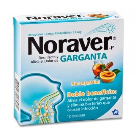 NORAVER* GARGANTA*CAJA*96 PASTILLAS