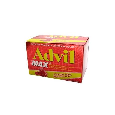 ADVIL MAX*AYUDA A ELIMINAR EL DOLOR* FCO*60 SOFTGEL